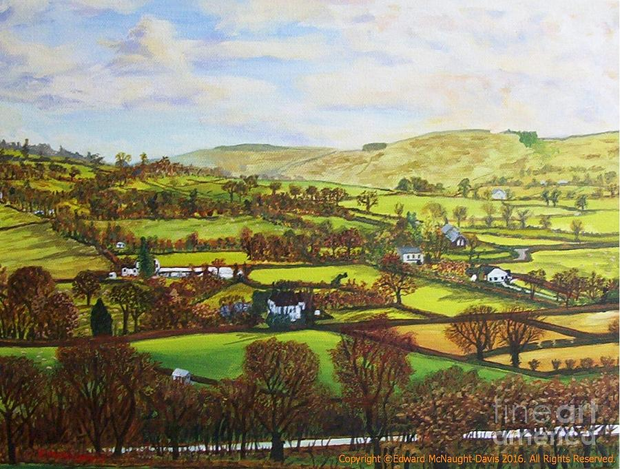Cellan Lampeter Countryside View Painting by Edward McNaught-Davis