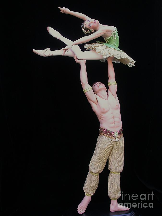 Ballet Sculpture - Celle Qui Vole  Or She Who Flies by Vickie Arentz