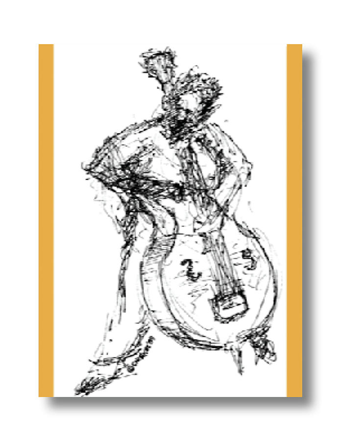 Cellist Drawing - Cellist by Sam Chinkes