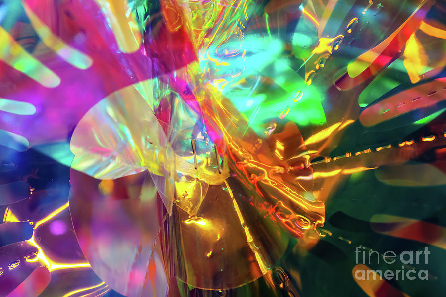 Cellophane and Lights Abstract One by Susan Vineyard