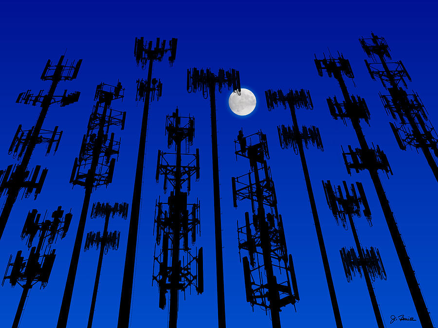 Cellphone Tower Forest by Joe Bonita