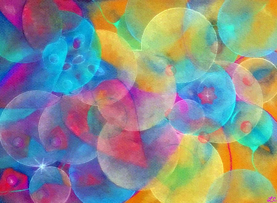 Cellular Expansion-colorful Circles Pastel