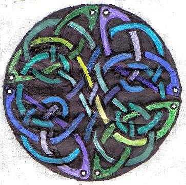 Circle Drawing - Celtic Art Circle by Katie Alfonsi