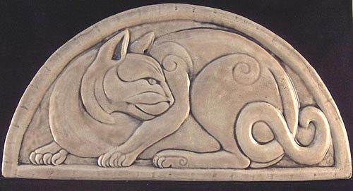 Celtic cat sculpture by shannon gresham