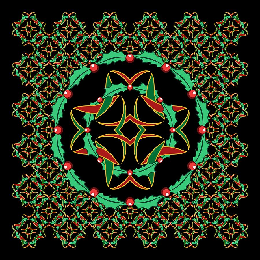 Celtic Christmas.Celtic Christmas Holly Wreath By Mm Anderson