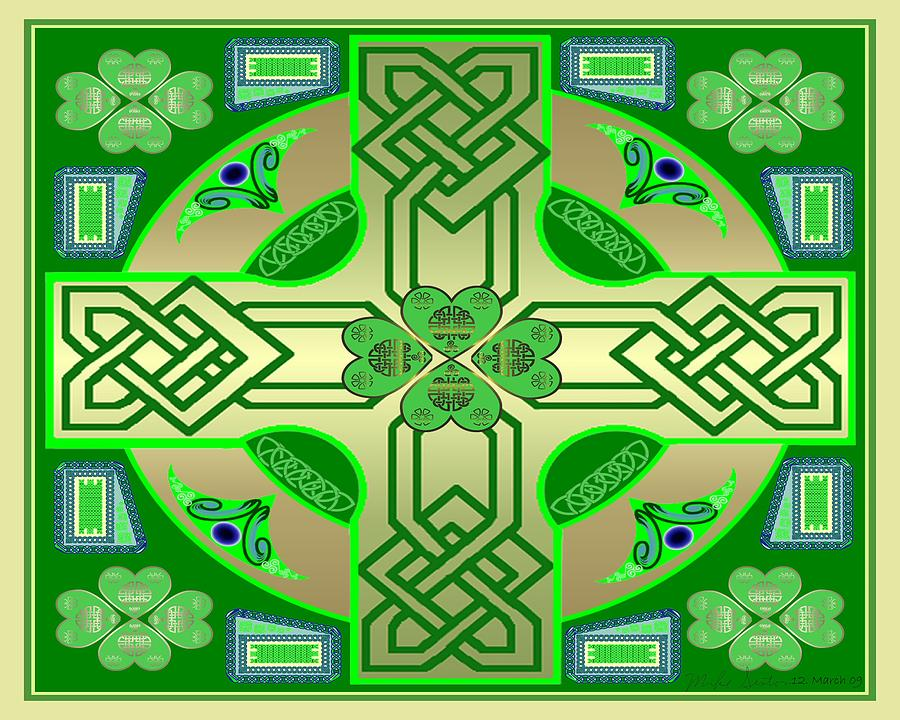 Celtic Knot Painting - Celtic Clover Knot by Mike Sexton