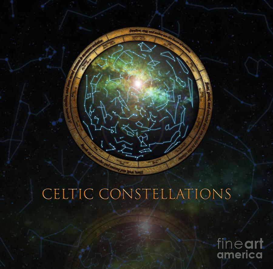 Stars Digital Art - Celtic Constellation by Barbara Ivie Green