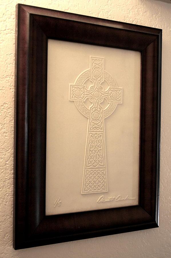Celtic Glass Art - Celtic Cross 1 by David Dunham