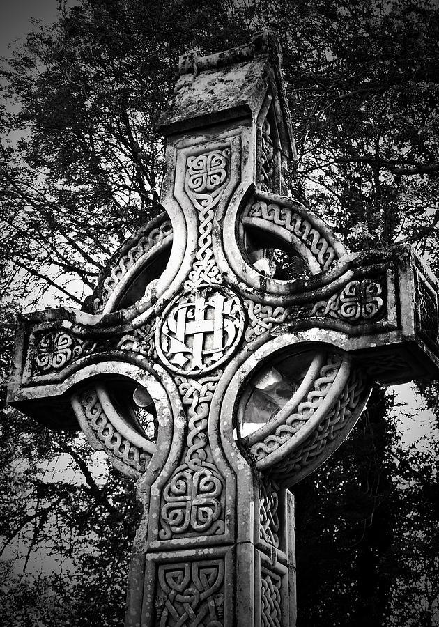 Irish Photograph - Celtic Cross Detail Killarney Ireland by Teresa Mucha