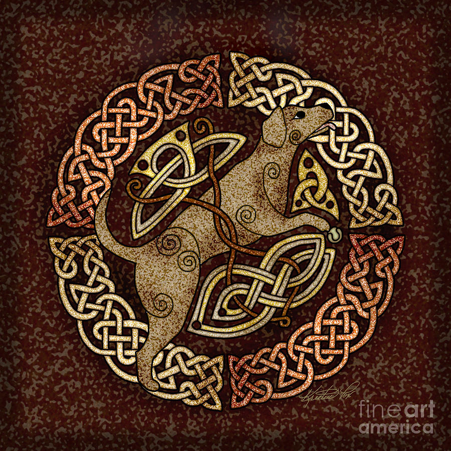 Celtic Dog Mixed Media By Kristen Fox