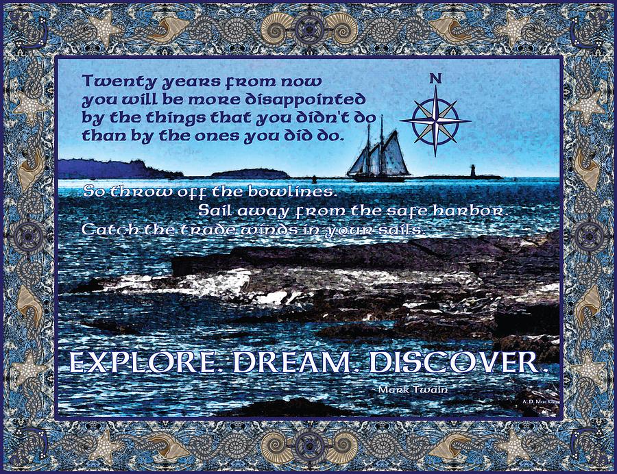 Nautical Digital Art - Celtic Explorer - Bluenose II in Halifax Harbour by Celtic Artist Angela Dawn MacKay