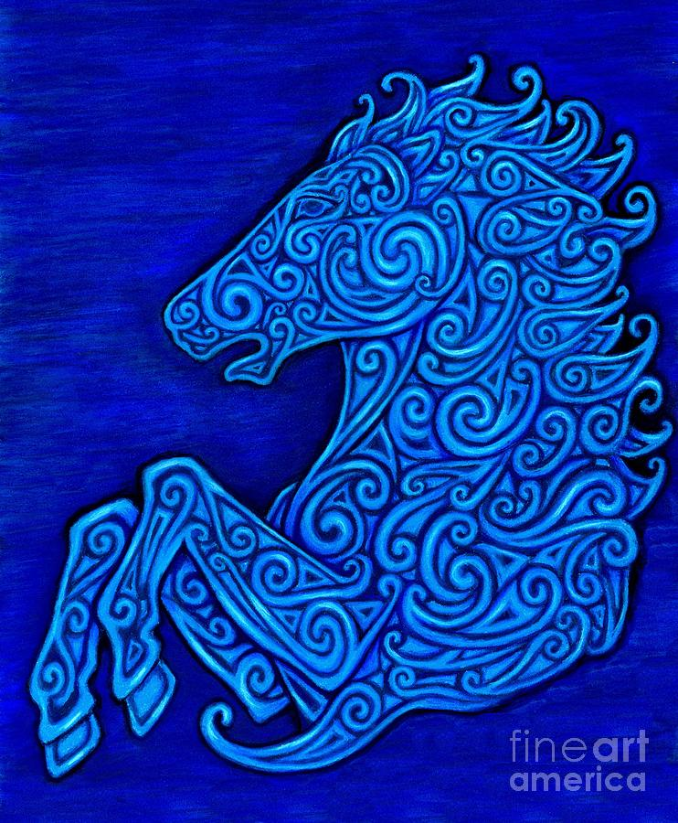 Celtic Drawing - Celtic Horse by Rebecca Wang