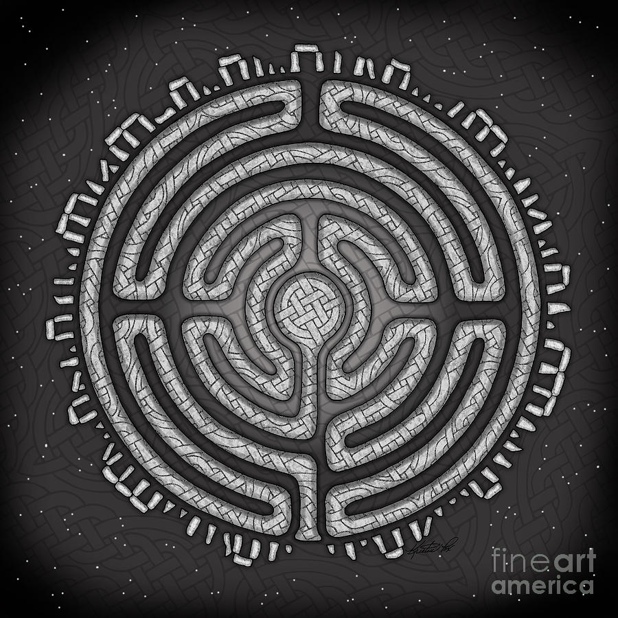 Celtic Labyrinth Mandala by Kristen Fox