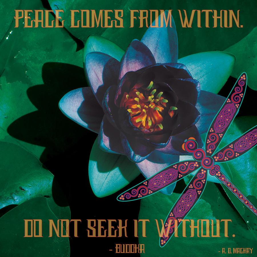 Celtic Digital Art - Celtic Peace by Celtic Artist Angela Dawn MacKay