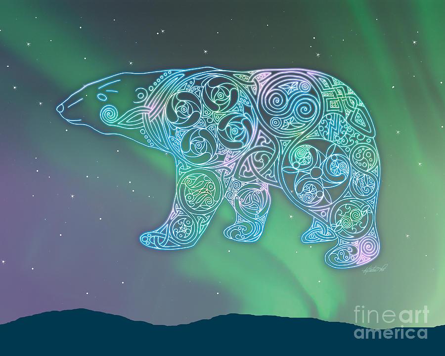 Artoffoxvox Photograph - Celtic Polar Bear by Kristen Fox