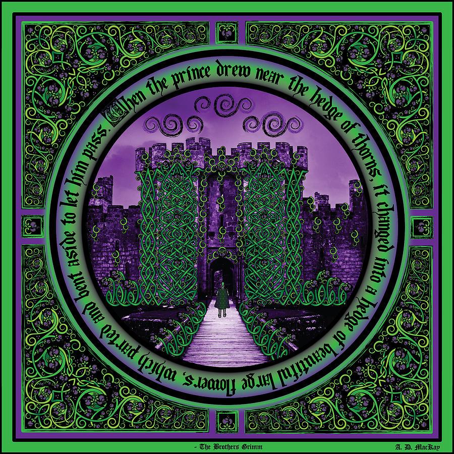 Sleeping Beauty Digital Art - Celtic Sleeping Beauty Part IIi The Journey by Celtic Artist Angela Dawn MacKay