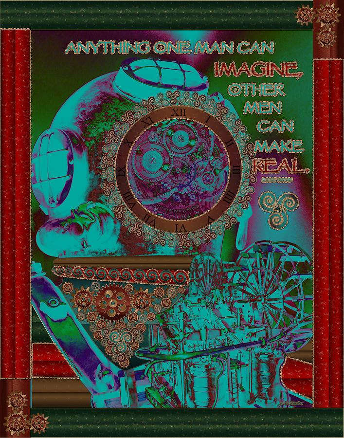 Steampunk Digital Art - Celtic Steampunk by Celtic Artist Angela Dawn MacKay