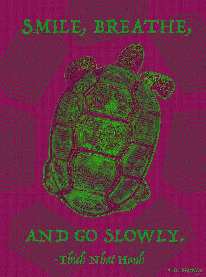 Tortoise Digital Art - Celtic Tortoise by Celtic Artist Angela Dawn MacKay