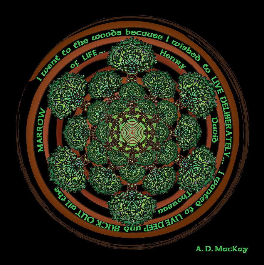 Celtic Tree Of Life Digital Art - Celtic Tree of Life Mandala by Celtic Artist Angela Dawn MacKay
