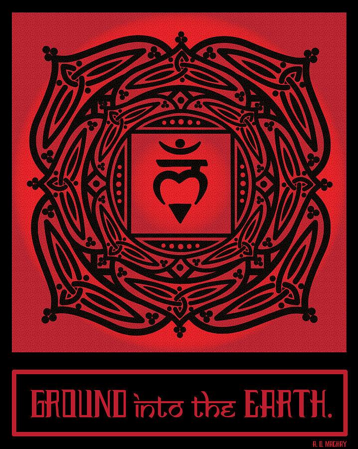 Celtic Digital Art - Celtic Tribal Root Chakra by Celtic Artist Angela Dawn MacKay