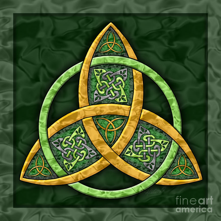 Celtic Trinity Knot Painting By Kristen Fox