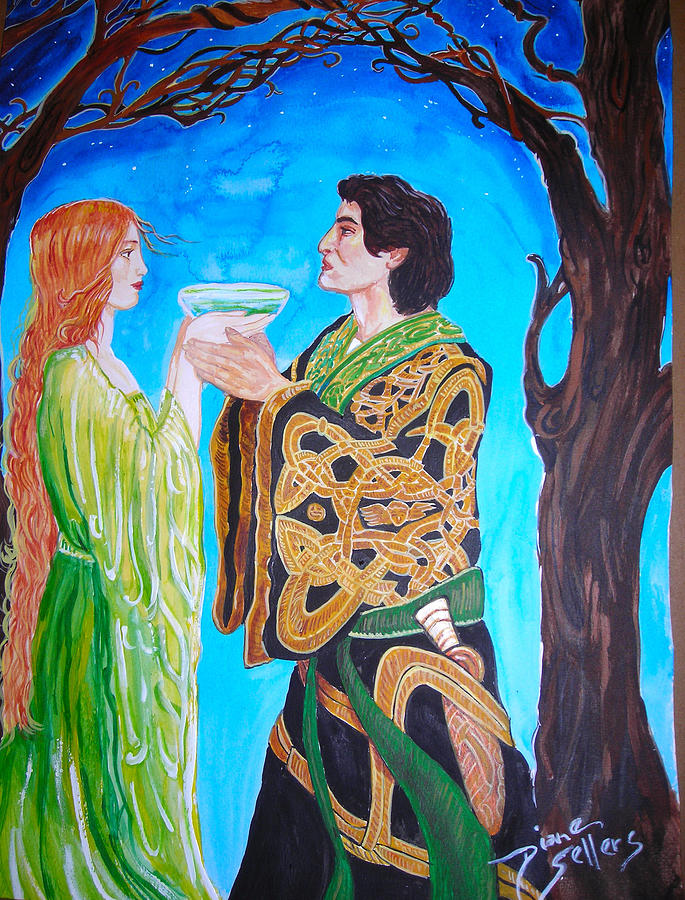 Vows Painting - Celtic Wedding by Diane Sellers