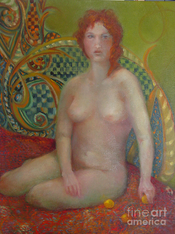 Tasteful Nude Painting - Celtic Woman  Copyrighted by Kathleen Hoekstra