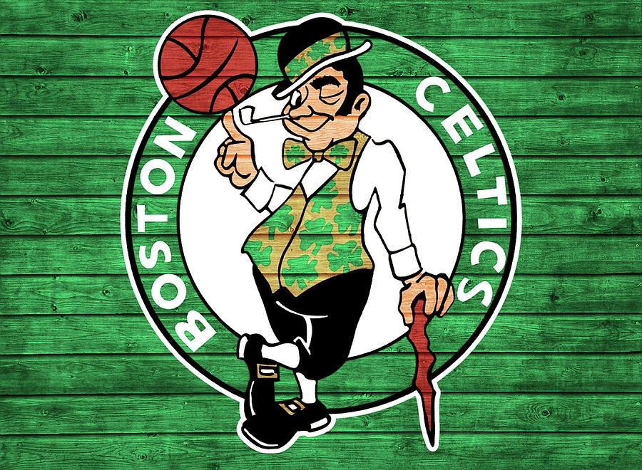 Boston Celtics Mixed Media - Celtics Barn Door by Dan Sproul