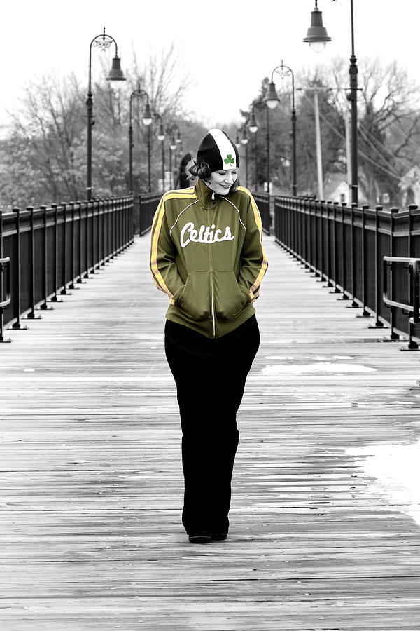 City Photograph - Celtics Girl by Greg Fortier