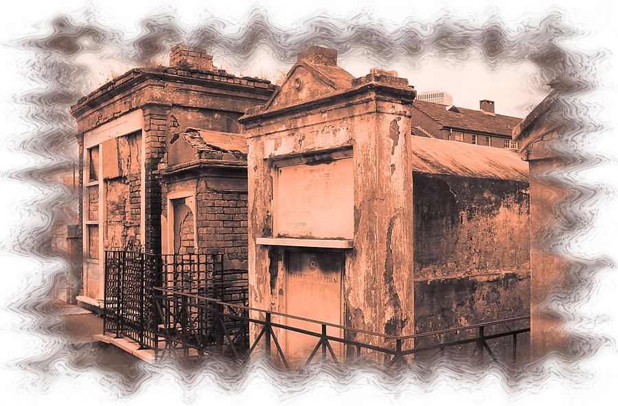 New Orleans Photograph - Cemetary Row by Linda Kish