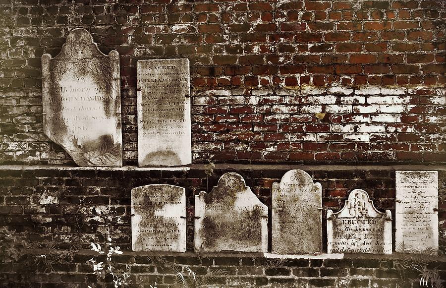 Cemetary Photograph - Cemetary Wall by JAMART Photography