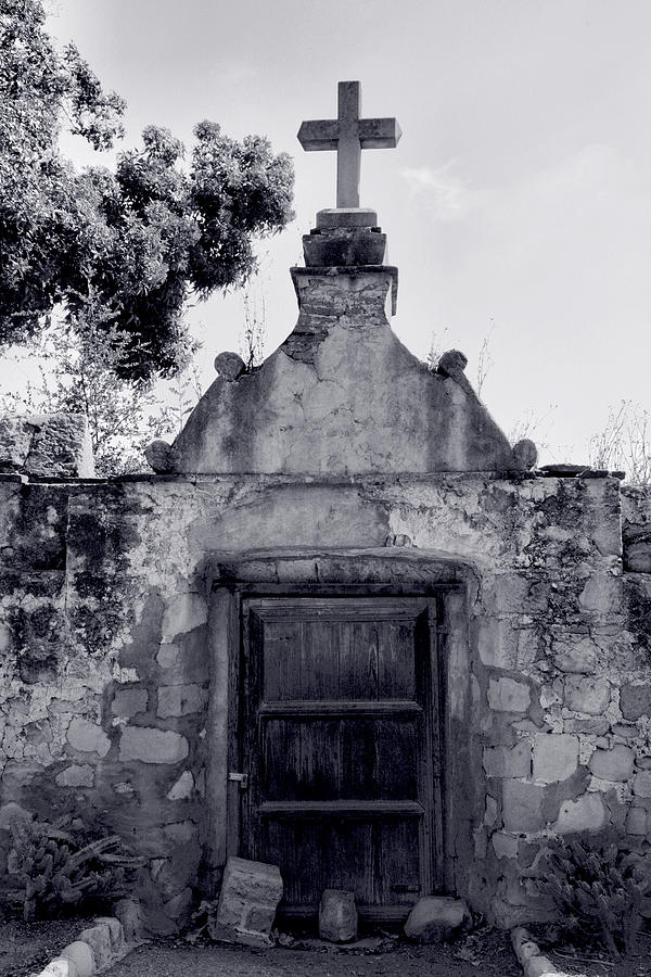 Graveyard Photograph - Cemetery At Mission Santa Barbara I by Steven Ainsworth