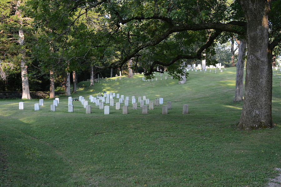 Cemetery Photograph - Cemetery At Shiloh National Military Park In Tennessee by WildBird Photographs