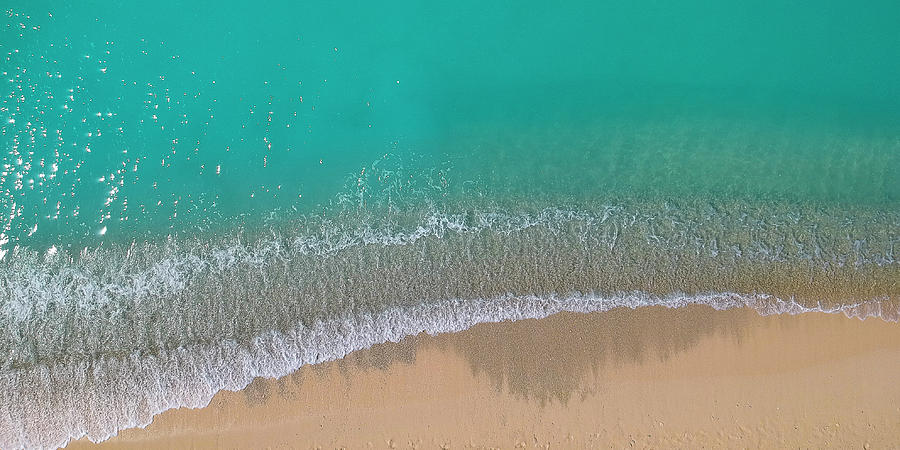 Cemetery Beach Aerial Panoramic by Adam Romanowicz