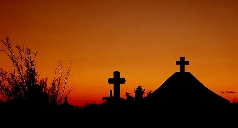 Cemetery Dawn Photograph by Andrei Constantin Visan Preda