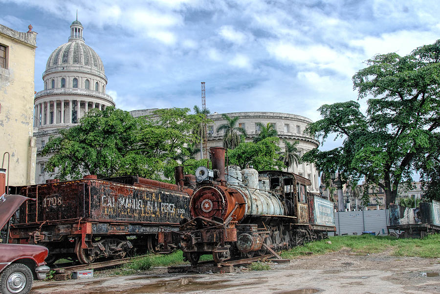 Cuba Photograph - Cemetery Of Railway by Marie Schleich