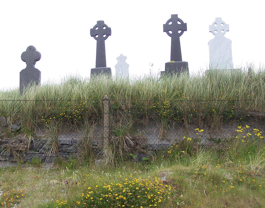 Ireland Photograph - Cemetery On Inisheer Aran Islands Ireland by Linda Hardin