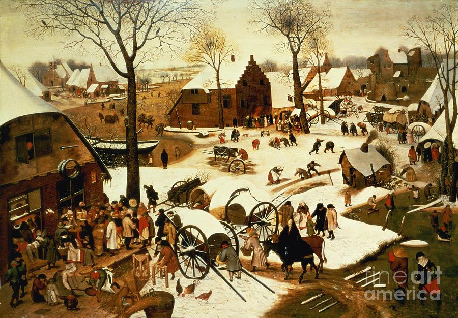 Census Painting - Census At Bethlehem by Pieter the Elder Bruegel