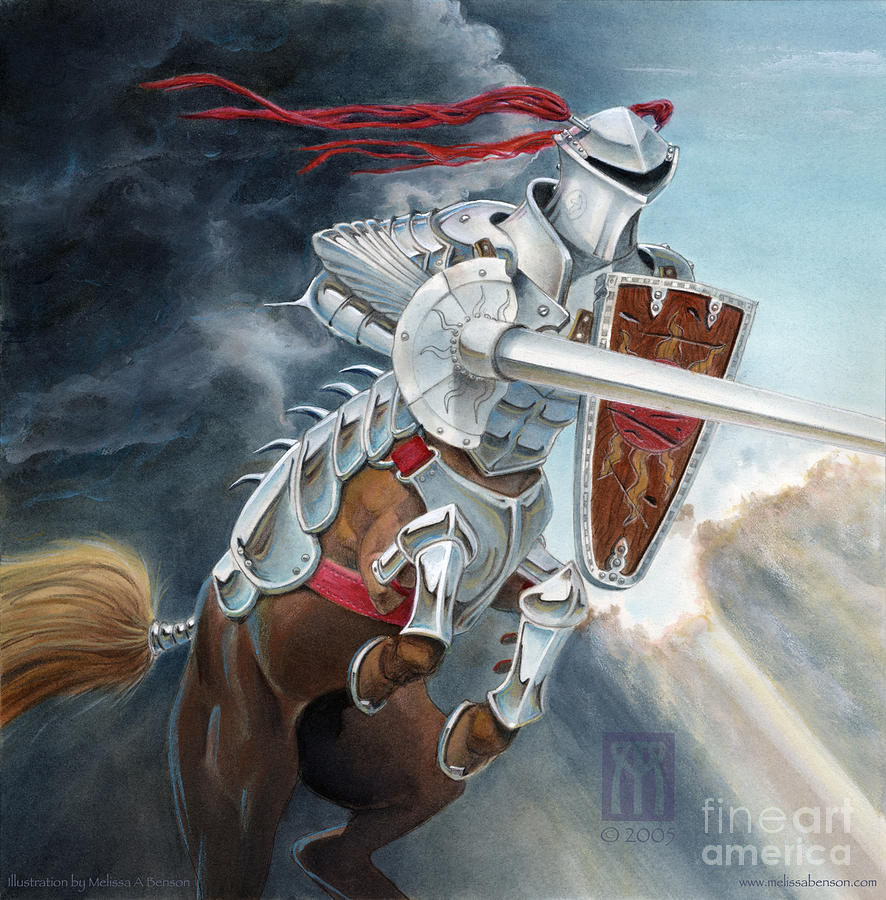 Centaur Painting - Centaur Joust by Melissa A Benson
