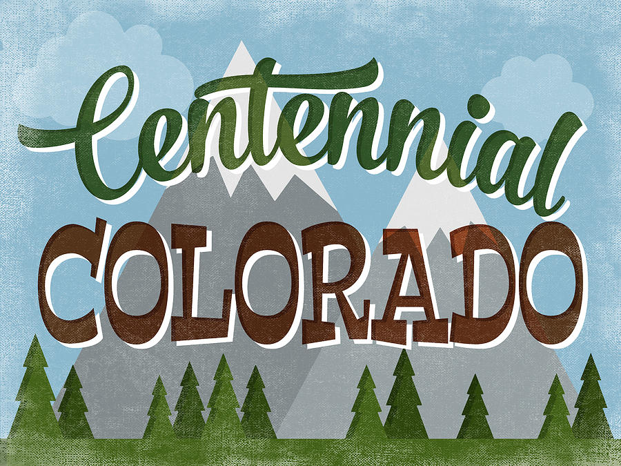Centennial Digital Art - Centennial Colorado Snowy Mountains	 by Flo Karp