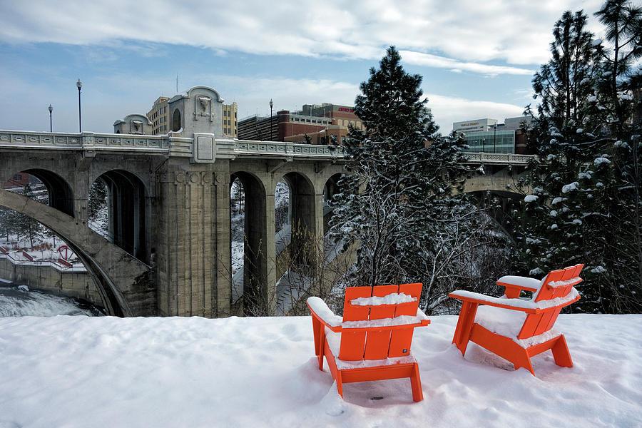 Spokane Photograph   Centennial Trail Chairs   Spokane By Daniel Hagerman
