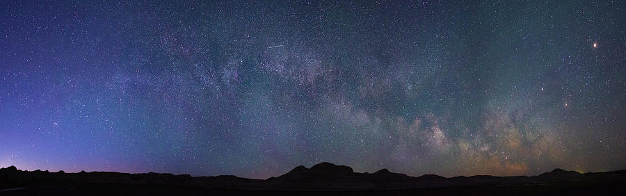 Center of the Milky Way over the Badlands by Dakota Light Photography By Dakota