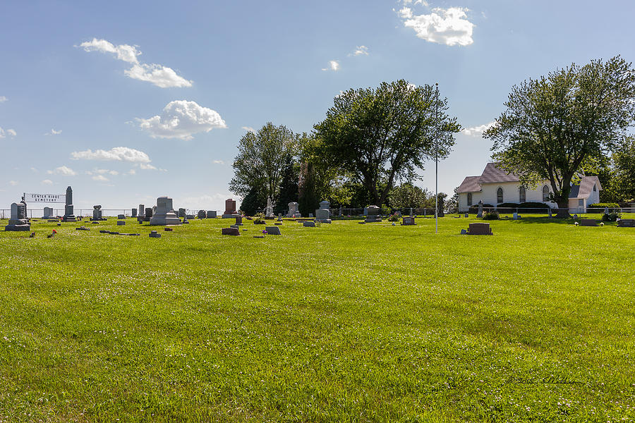 Burial Photograph - Center Ridge Cemetery by Edward Peterson