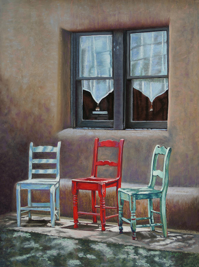 Chairs Pastel - Center Stage by Donna Slade
