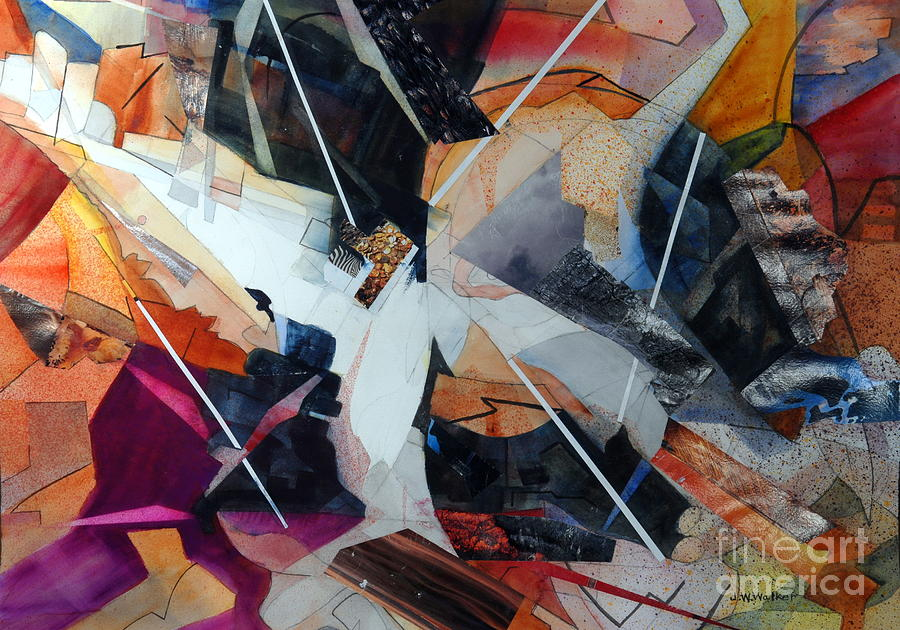 Abstract Painting - Centerfold I by John W Walker