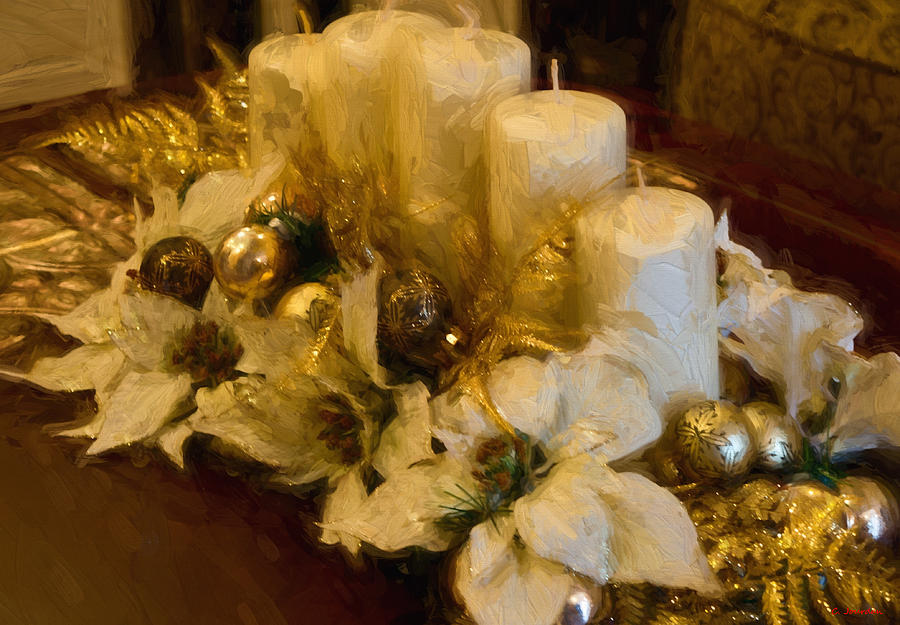 Centerpiece for Christmas by Cathy Jourdan