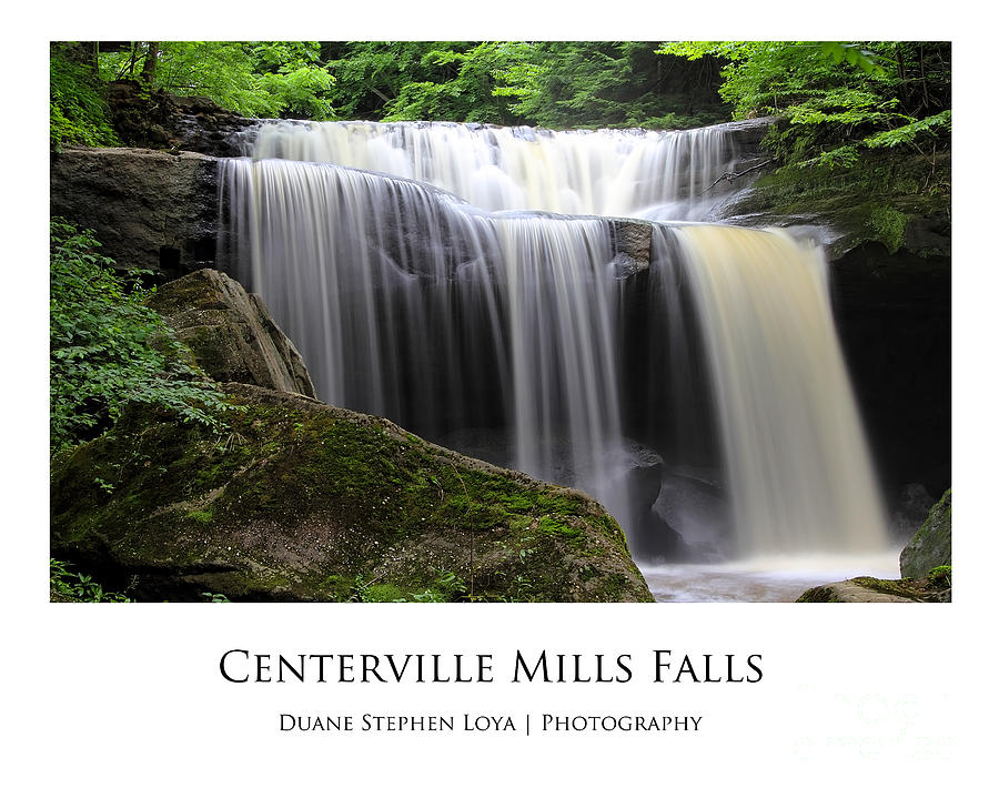 Waterfalls Photograph - Centerville Mills Falls by Duane Loya