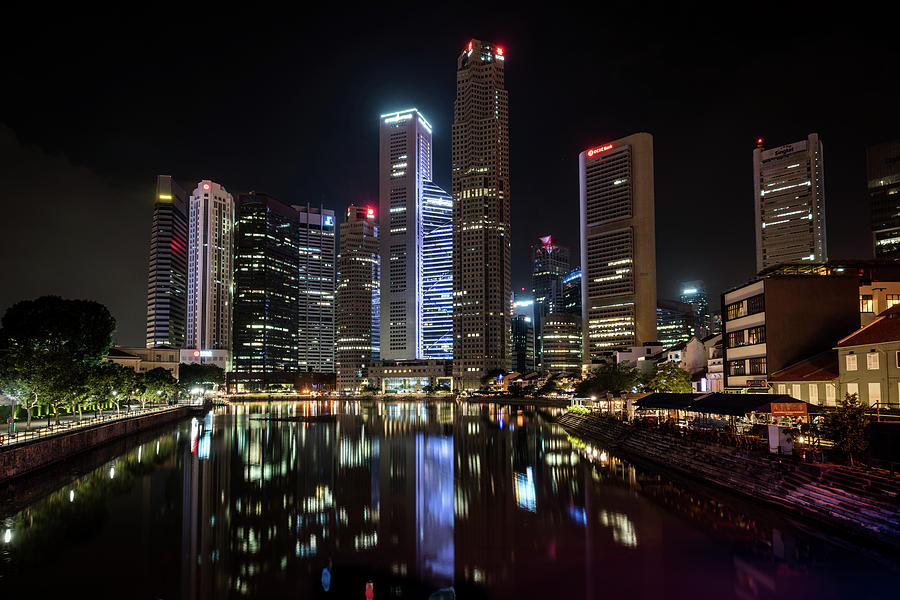 Singapore Photograph - Central Business District, Singapore by Edward Nowak