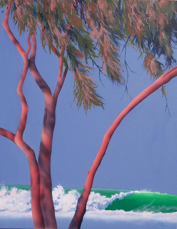 Seascape Painting - Central Coast by Philip Fleischer