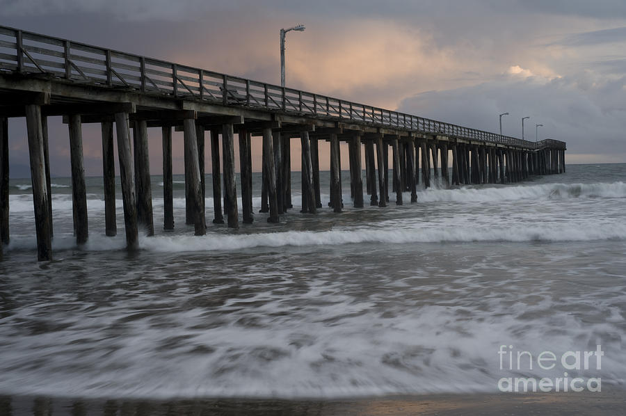 Pacific Photograph - Central Coast Pier by Ronald Hoggard